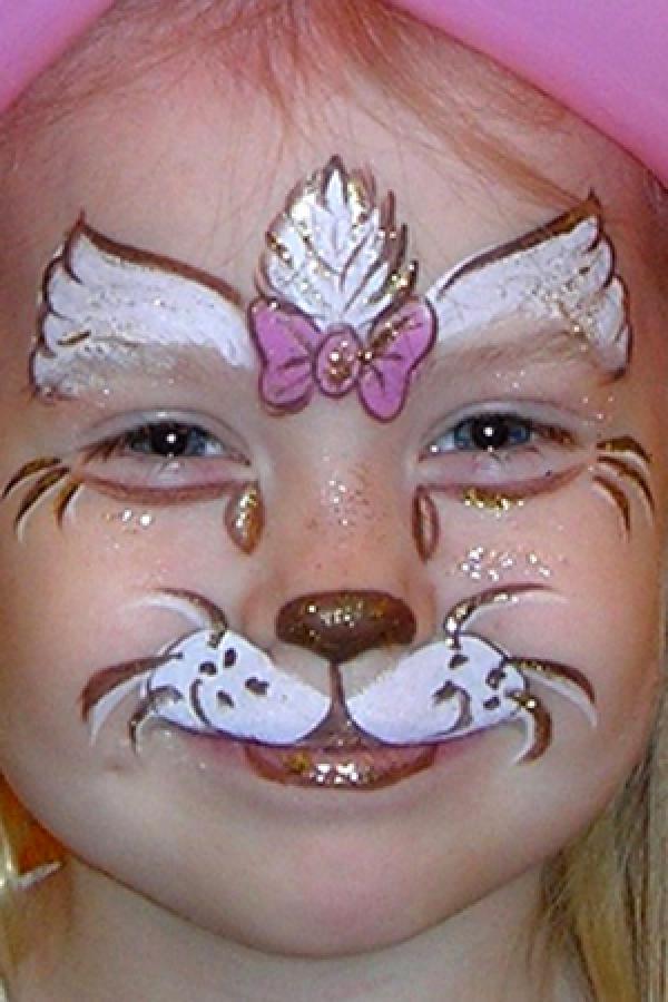 Как Раскрасить Лицо Котика